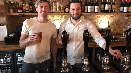 Lee Hamerton, founder of Hammerton Brewery, and Iggy Demirer, manager of the House of Hammerton pub