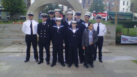 Islington Sea Cadets pictured five years ago on Islington Green during celebrations for Armed Forces