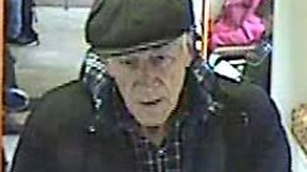 The man police want to speak to after a teenage girl reported someone touching himself as he stared