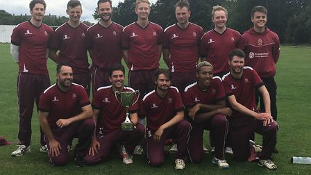 North Middlesex celebrate winning the Middlesex League T20 final (pic: North Middlesex CC)
