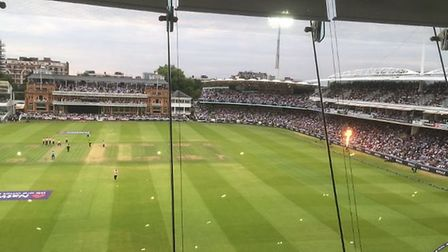 The view of Lords from the Media Centre. Picture Layth Yousif