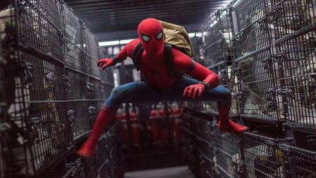 Tom Holland stars as Spider-Man in Columbia Pictures' SPIDER-MAN: HOMECOMING. Picture; Chuck Zlotnic