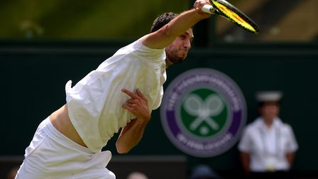 James Ward in action at Wimbledon (pic Anthony Devlin/PA)