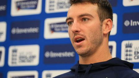 Middlesex and England's Toby Roland-Jones speaks to the media before a nets session at Lord's (pic N