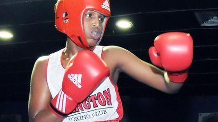 Mahad Ali in action for Islington Boxing Club. Picture: Islington Boxing Club