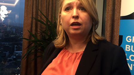 Karen Bradley has warned a no-deal Brexit would mean a hard border being put in place in Ireland Ph