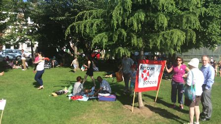 Families came out in their droves to Tufnell Park on a day of national protest against funding cuts