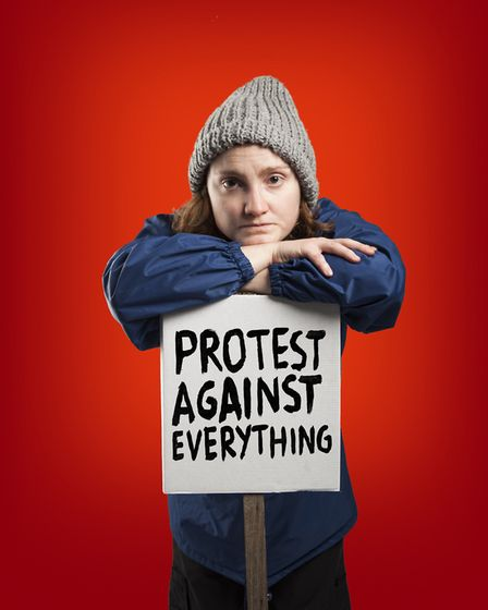 Morag Sims plays activist Adele in Wet Bread. Picture: Nick Rutter