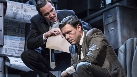 Ink Almeida Theatre starring Bertie Carvel and Richard Coyle. Picture: Marc Brenner