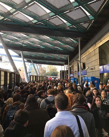 Travel chaos at Finsbury Park station. Picture: Darren Maggs