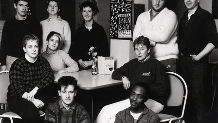 A picture from the London Lesbian and Gay centre in Cowcross Street, Clerkenwell, taken in the late