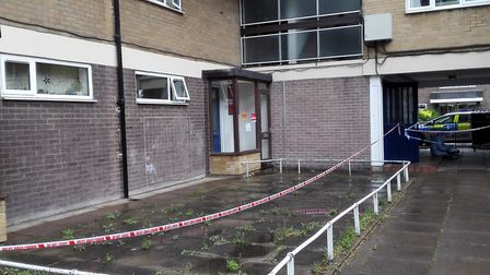 Westcliff House was cordoned off on Tuesday morning. Picture: Valeria Fiore