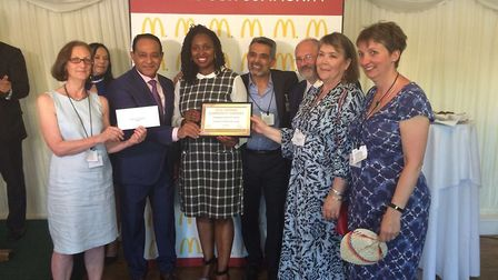 Dawn Butler MP for Brent Central helped Atul Pathak award communities for their hard work