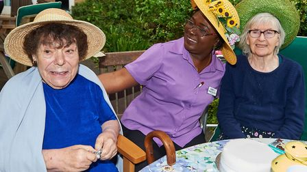 Residents Barbara Cronin and Mary O'Dea with lifestyle co ordinator Alice Adebisi at an open day at