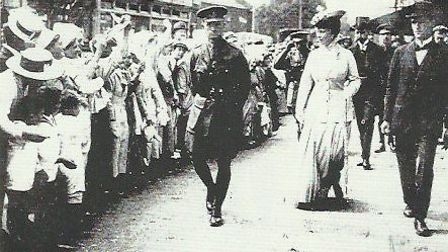 Royal Visit by King George and Queen Mary to Kingsbury in 1917