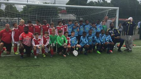 Islington and Hackney face the camera after the McKee Trophy final