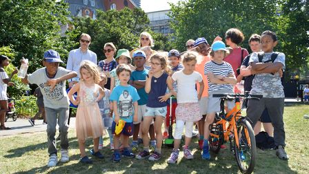 Children and parents in Fortune Street Park are concerned the new development will block the sunligh