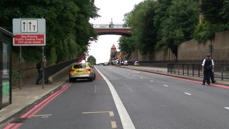 Archway Road has been closed. Picture: Chris Sparks