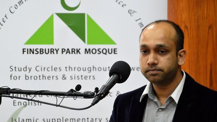 Shah Islam, spokesperson for the 12 victims of the Finsbury Park terror attack and their families, s