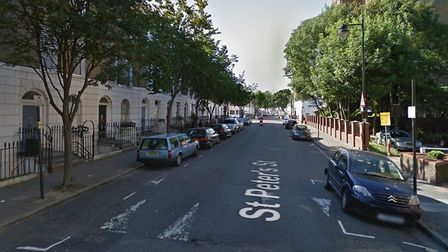 A man was shot in St Peter's Street, Islington, this morning. Picture: Google Street View