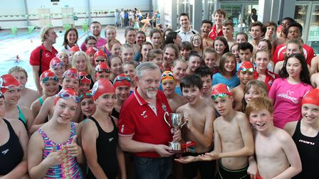 Anaconda Swimming Club's Ray Haggan has had a trophy named after him following 30 years of service t