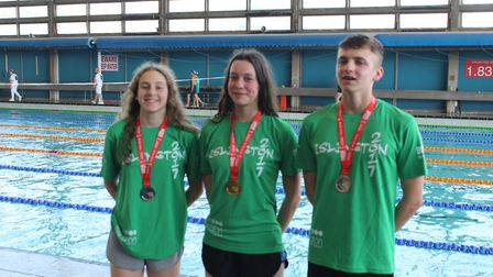 Islington's Elena Dewhurst, Sadie Goldin and Tommy Donovan won swimming medals at the London Youth G
