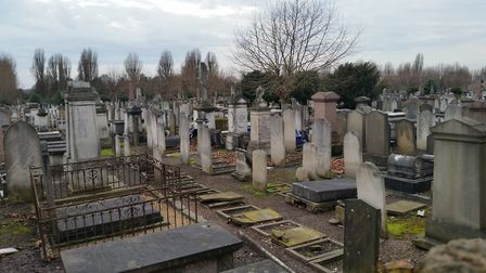 Victorian area of the Willesden Cemetery
