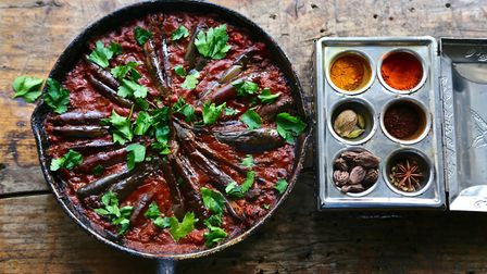 Aubergine curry. Picture: Kerstin Rodgers