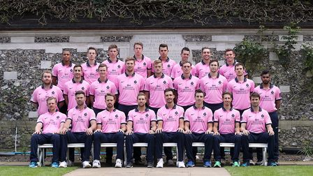 Middlesex face the camera in their Natwest Blast T20 kit (pic Adam Davy/PA)