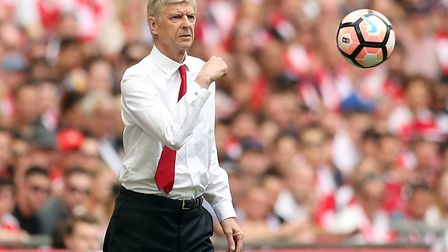 Arsenal manager Arsene Wenger on the touchline (pic Adam Davy/PA)