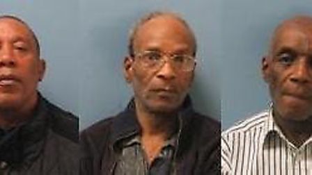 (left to right) Alvin Muschette, Noel Hutton and Robert Hutton have been jailed for a total of 20 ye