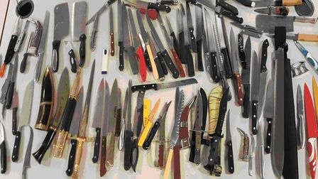 Ninety knives were dropped into an amnesty bin at Islington Police Station over the past six weeks.