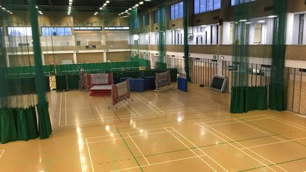 The sports hall as at June 20.