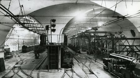 Post Office underground railway: car depot and workshop at Mount Pleasant. Picture: Royal Mail