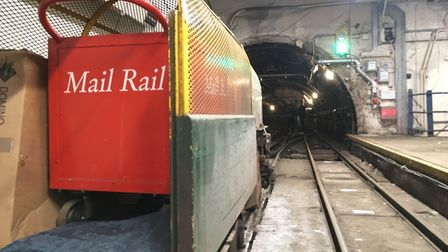 A Mail Rail carriage. Picture: James Morris