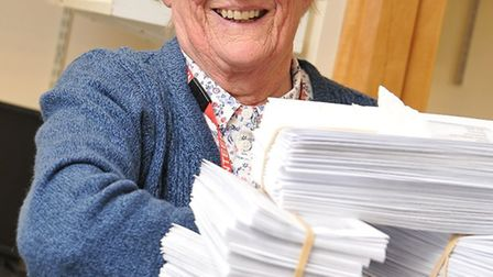 Margaret Moore has volunteered at Nothwick Park Hospital since 1977. Picture: LNWH
