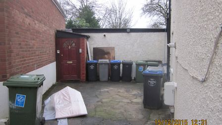 The converted garage flat which has been used illegally to house tenants Picture: Brent Council