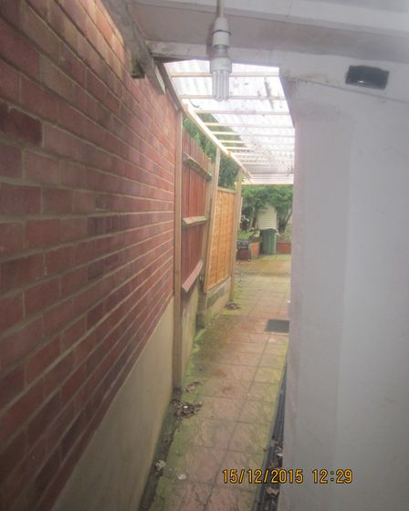 'Access was down a narrow, overshadowed alley via a side door' Picture: Brent Council
