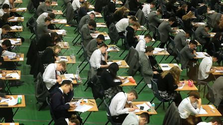 Students sitting an exam. Gareth Fuller/PA Wire