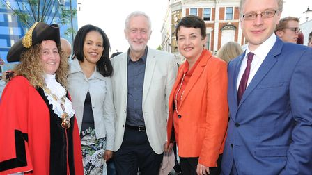 Mayor of Islington Cllr Una O'Halloran, Cllr Claudia Webbe, Jeremy Corbyn MP, deputy mayor of London
