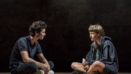 Ben Whishaw and Emma D'Arcy in Against at the Almeida. Picture: Johan Persson
