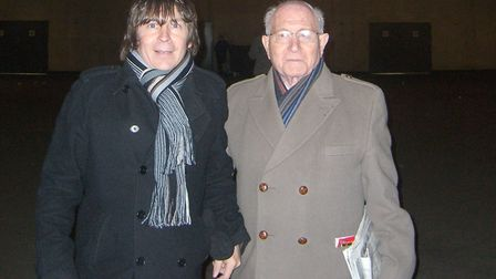 Patrick Morgan with his dad, Constable Alex Morgan, outside Emirates Stadium. But Alex rarely went t