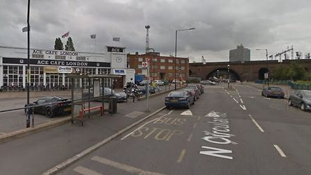 A 65 year old man was hit in a fail to stop collision on the A406 near the Ace Cafe Picture: Google
