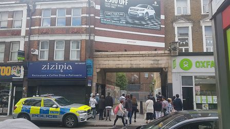 Armed police swooped on Kilburn High Road (Pic: Chris Lozeau)