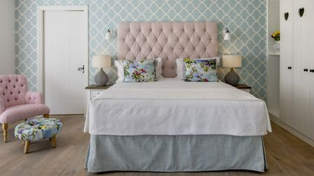 The Love Nest bedroom at the Swan Hotel at Newby Bridge
