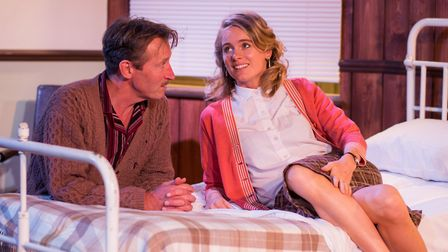 Peter Hamilton Dyer and Cressida Bonas star in Mrs Orwell at the Old Red Lion. Picture: Samuel Taylo