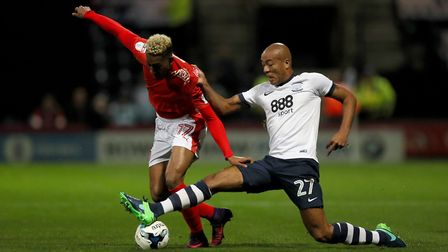 New Queens Park Rangers defender Alex Baptiste (right) spent time on loan at Preston North End last