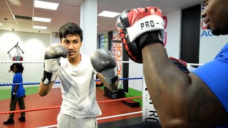 Boxing was one of the activities available as part of Summerversity. Picture: Polly Hancock