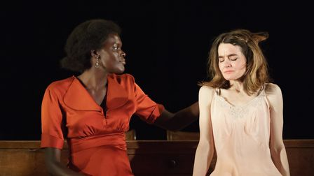 Sheila Atim (Marianne Laine) Shirley Henderson (Elizabeth Laine) in Girl From The North Country at T