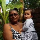 Christina Janvier, pictured with her granddaughter Gracie Christina Montgomery-Wheal, admires the ba